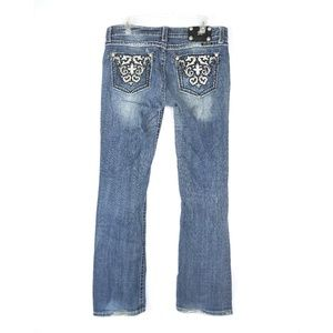 Miss Me boot cut embellished jeans, size 32x33